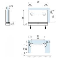 Axial пол-потолок-стекло